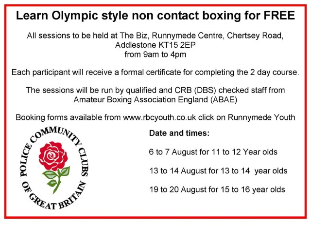 Boxing course advert