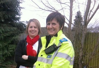 Keeping our students safe : Helen Groenendaal, Community Liaison & Support Officer (left) and Carole Lawford, PCSO Englefield Green (right)