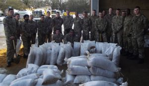 The Army - Sand Bags - Surrey County Council