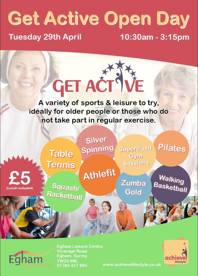 Get Active Open Day Poster