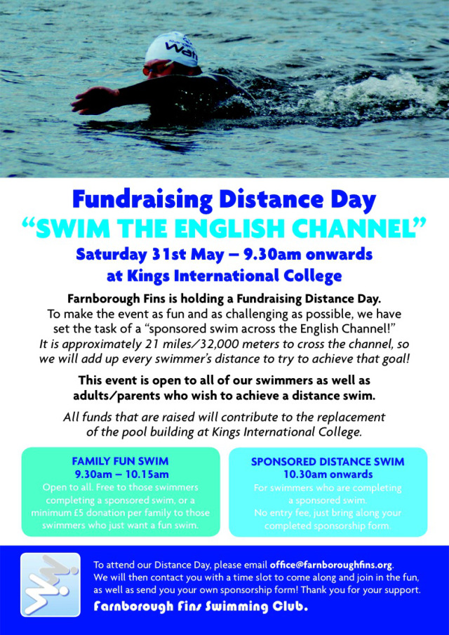 Farnborough Fins Fund Raising Day - May 14