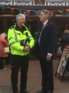 Local MP Phillip Hammond in the High Street