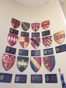 The Baron's coats of arms in the entrance to St John's