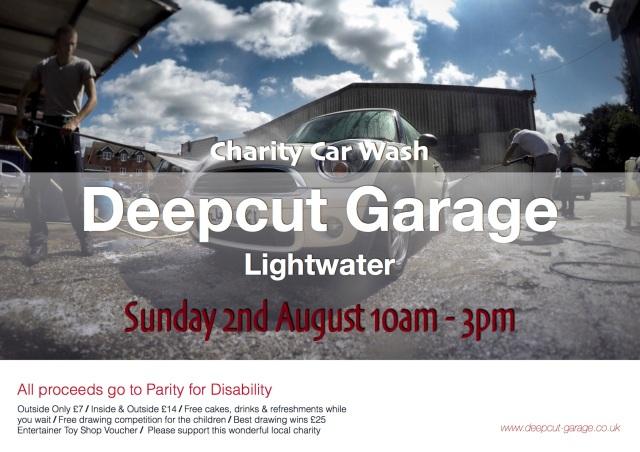 Deepcut Garage Charity Car Wash Poster copy